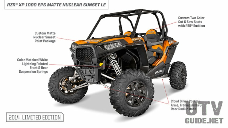2014 RZR XP 1000 EPS - Matte Nuclear Sunset