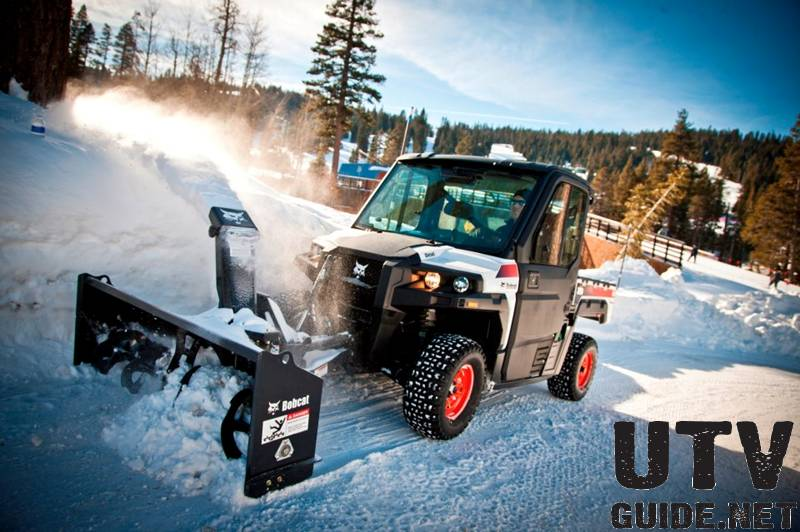 Bobcat 3650 with Snow Blower Attachment