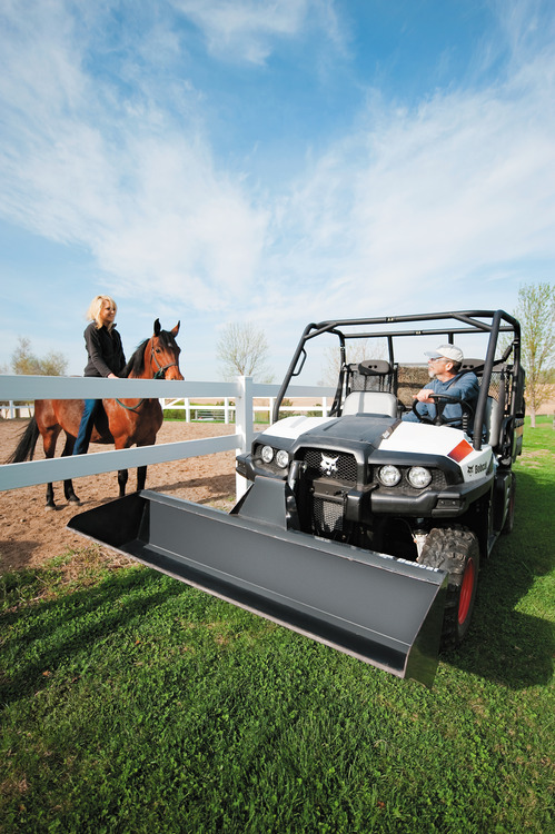 Bobcat 3450 4x4 Utility Vehicle with RapidLink Bucket Attachment