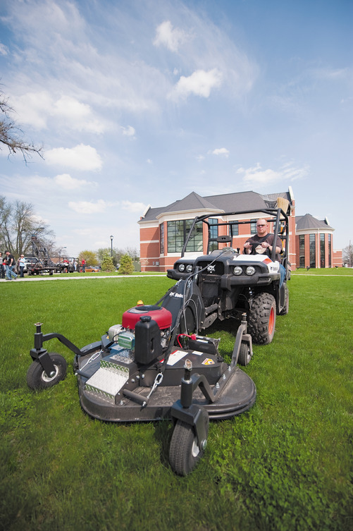 Bobcat 3450 4x4 Utility Vehicle with RapidLink Attachment Mower