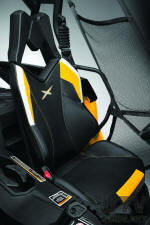 Maverick 1000R X-RS X-package seat trim and graphics