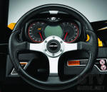 Can-Am Maverick Analog / digital gauge and Custom steering wheel
