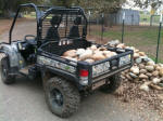 Hauling rocks with our John Deere Gator XUV 825i