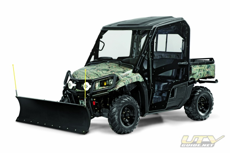 John Deere Gator XUV 550 with Plow and cab enclosure