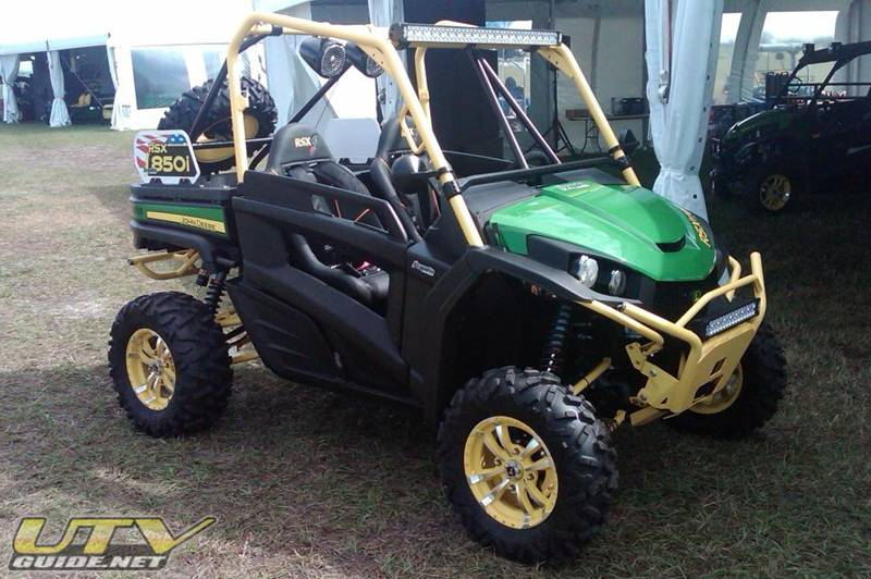 "John Deere Gator RSX 850i outfitted with DragonFire Racing ""Race Ready"" products"