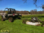 John Deere Gator XUV 825i with towable rough cut mower