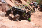 Casey Currie in his Kawasaki Teryx on Cliff Hanger Trail, Moab
