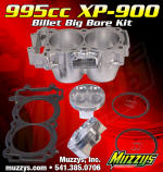 The Muzzy 995cc billet aluminum big bore kit for the RZR XP-900