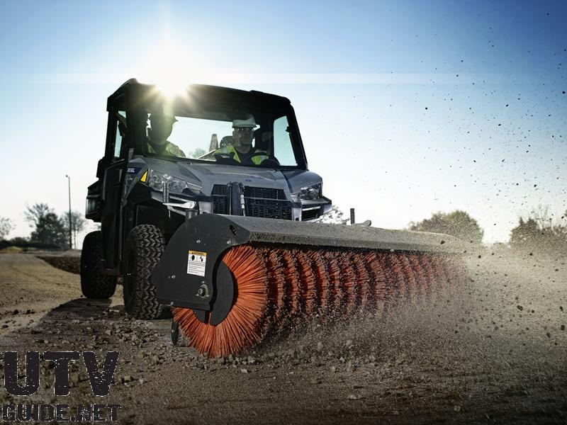 Polaris BRUTUS HDPTO with Angle Broom