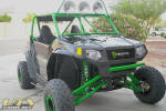 Long Travel RZR 170 with custom cage and light bar