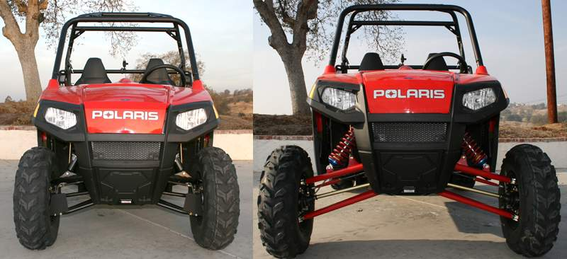 Polaris RZR Long Travel vs. Stock