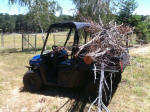 Polaris RANGER EV hauling brush
