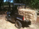 Hauling hay with the Polaris Ranger EV