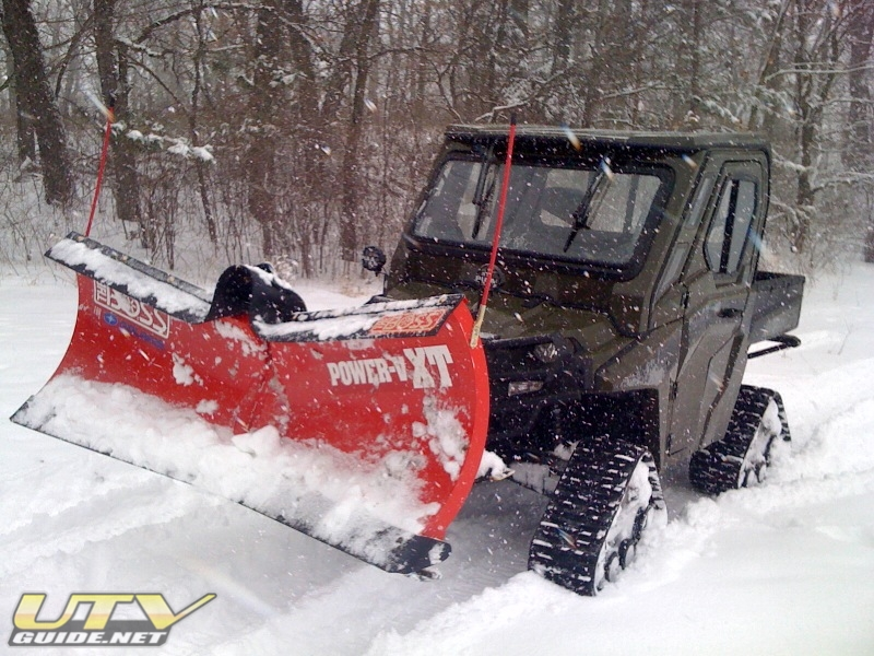 Polaris RANGER HD with BOSS Plow and Tracks
