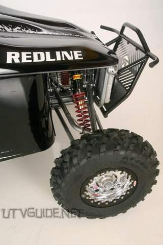 Redline Riot - Front Suspension - Double A-arm, 10� ELKA coil over shocks w/ adjustable rebound and compression, 18� true travel