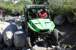 Kawaski Teryx on the Post Pile - Rubicon Trail
