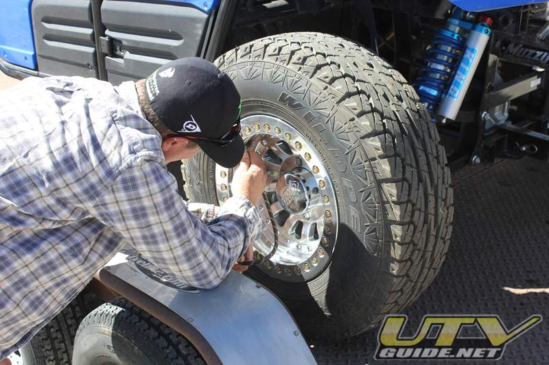Lowering air pressure helps increase traction