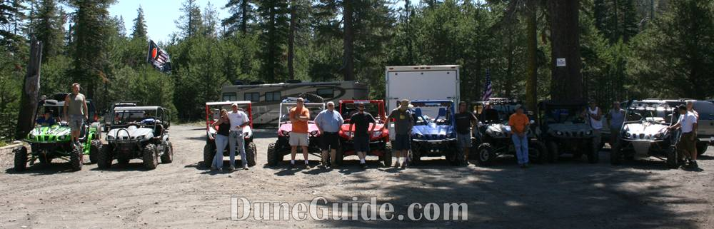 UTVs at the Rubicon Trail Head