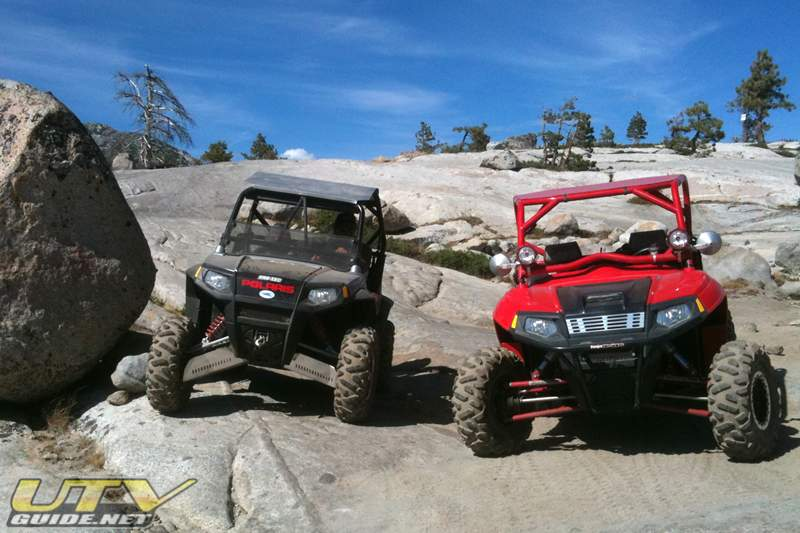 Polaris RZRs on the Rubicon Trail