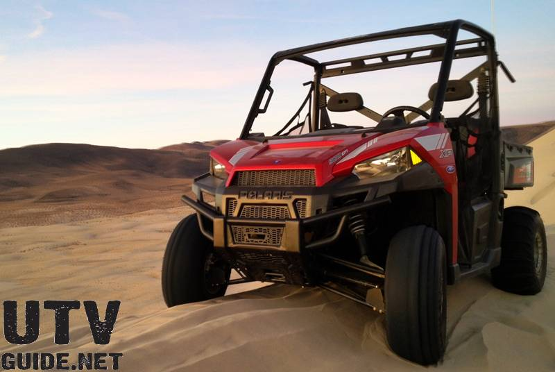 Polaris RANGER XP 900 at the top of Sand Mountain