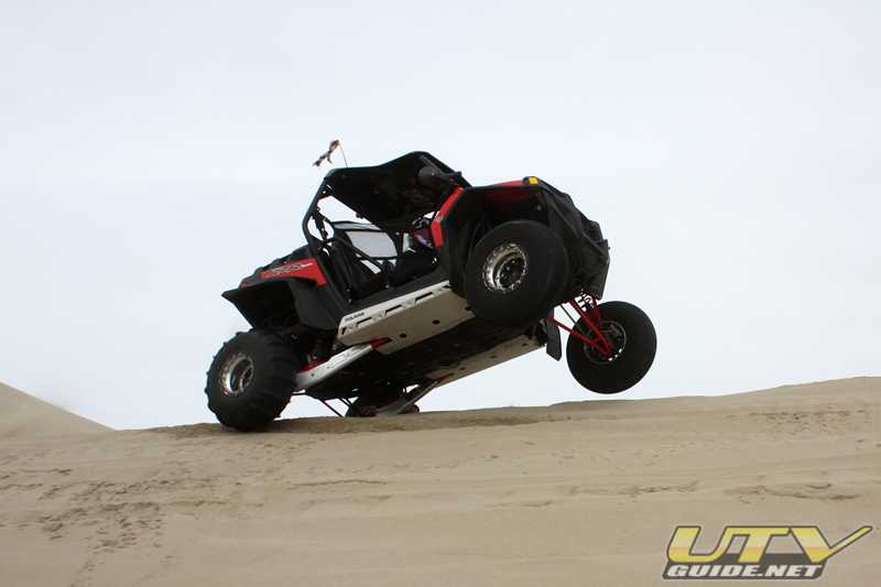 In the dunes with the Polaris RZR XP