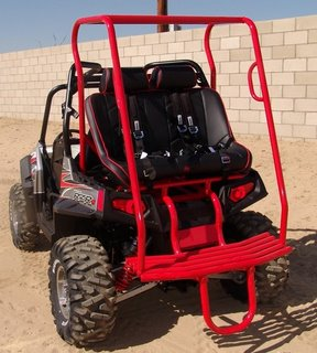 Polaris RZR Rear Seat Setup