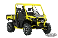 2018 Defender X mr HD10 Carbon Black and Sunburst Yellow_3-4 front