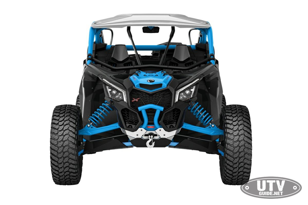 2018 Maverick X3 X rc TURBO R Carbon Black and Octane Blue_front