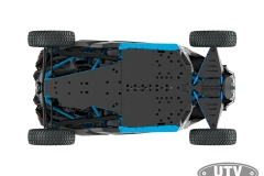 2018 Maverick X3 X rc TURBO R Carbon Black and Octane Blue_bottom