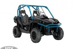 2019 Commander XT 1000R Carbon Black _ Octane Blue_3-4 front