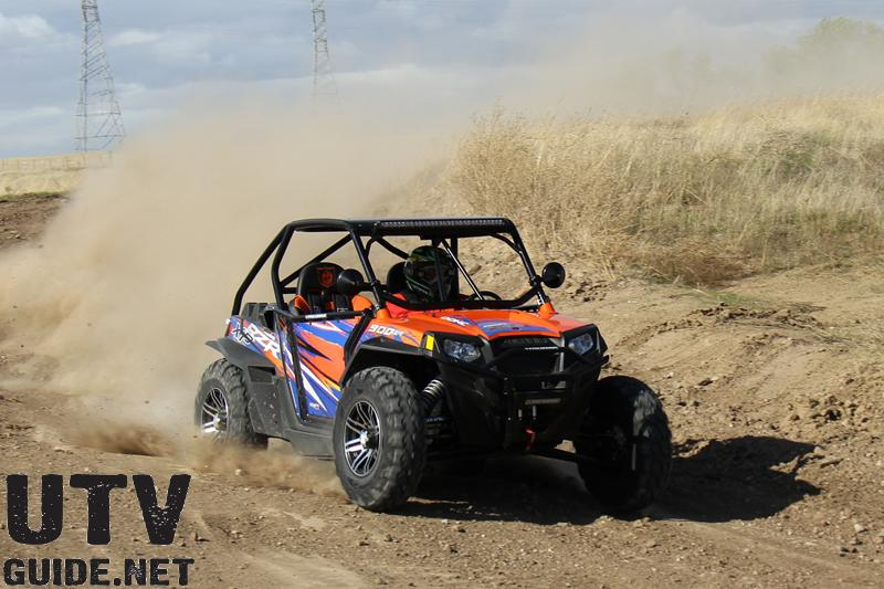 Polaris RZR XP with 30x10R14 GBC Kanati Mongrels