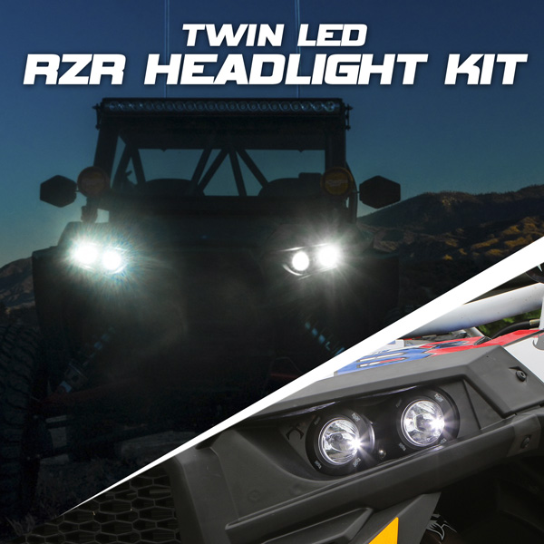 LED Polaris RZR Twin headlight System