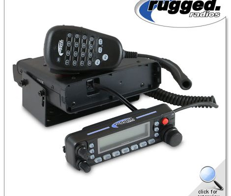 Rugged Radios RM-50R 50-Watt Remote Head Dual Band Radio