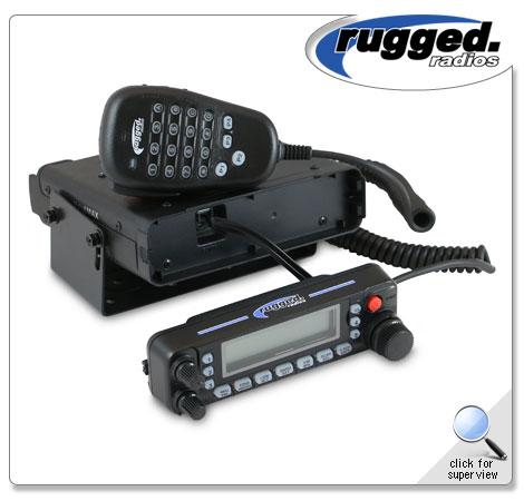 Rugged Radios RM-50R 50-Watt Remote Head Dual Band Radio