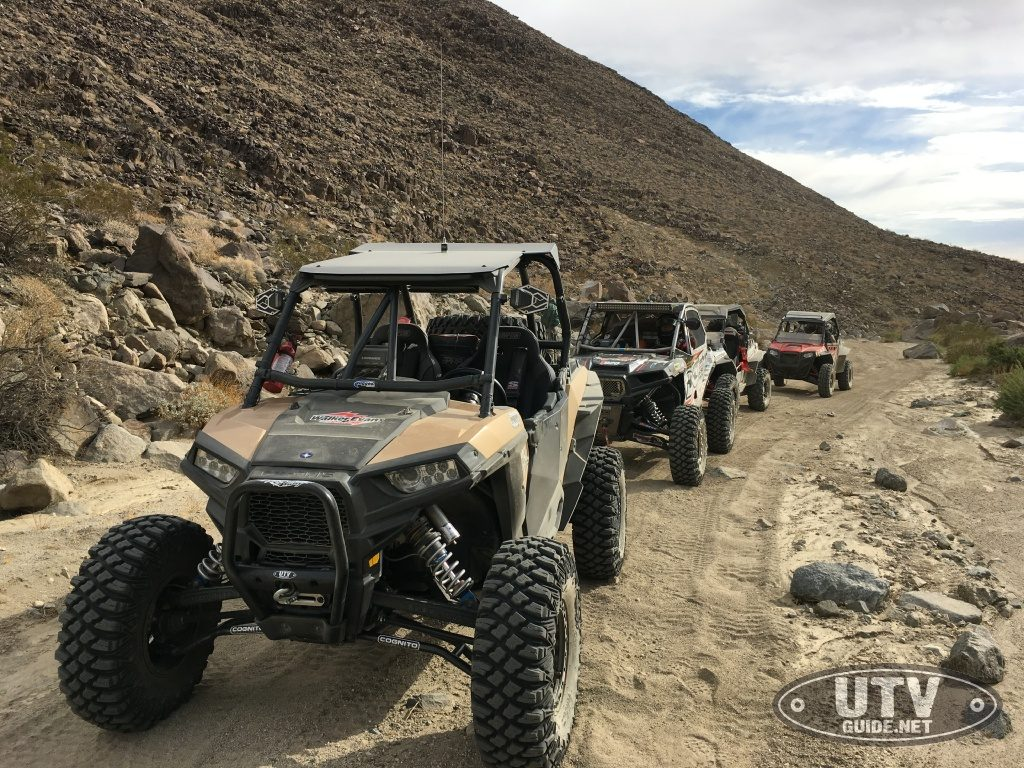 Aftershock trail in Johnson Valley