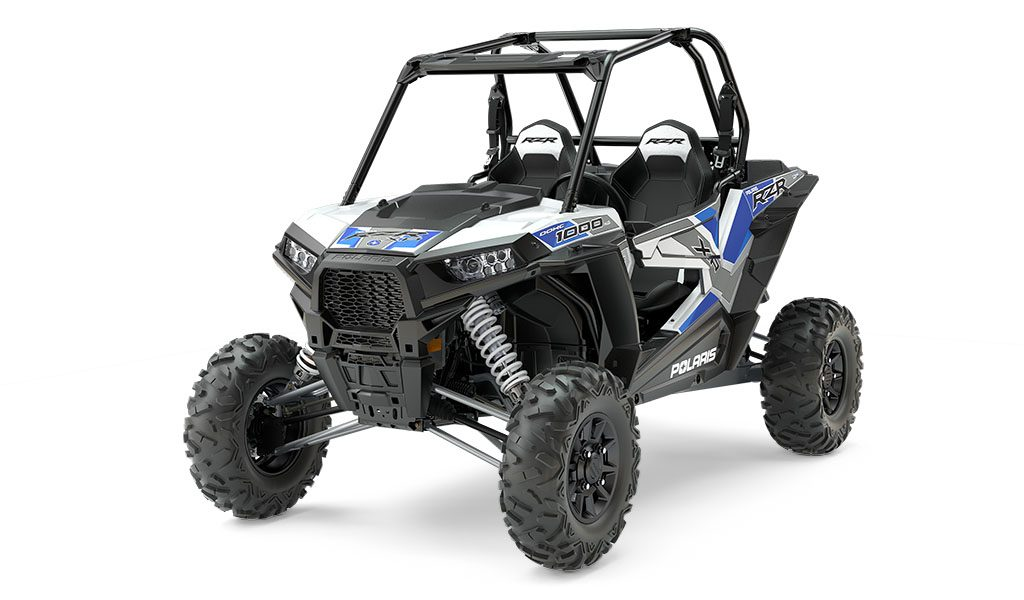 RZR XP 1000 EPS White Lightning with Reflex Blue