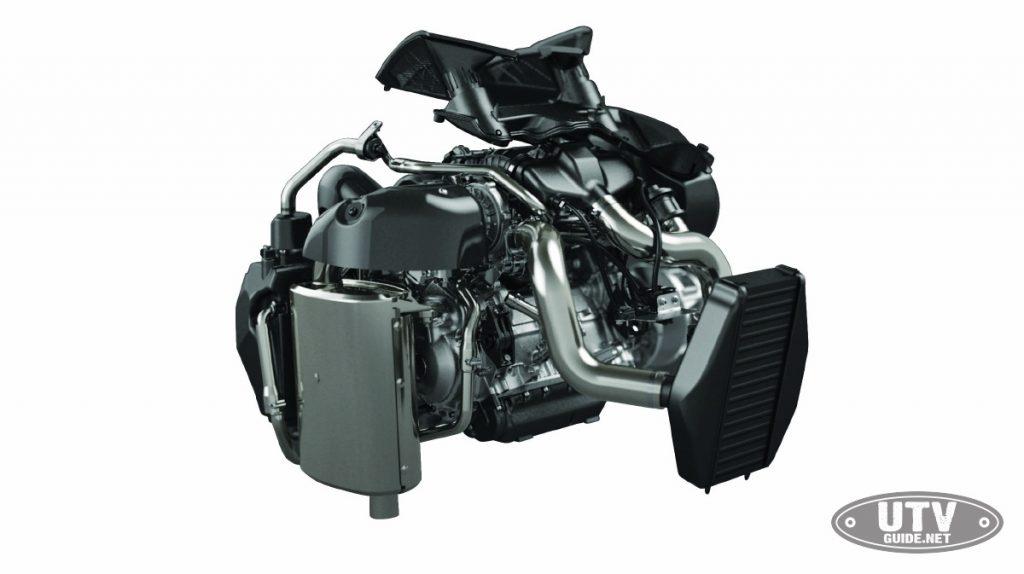 Turbocharged Yamaha 998cc triple cylinder engine