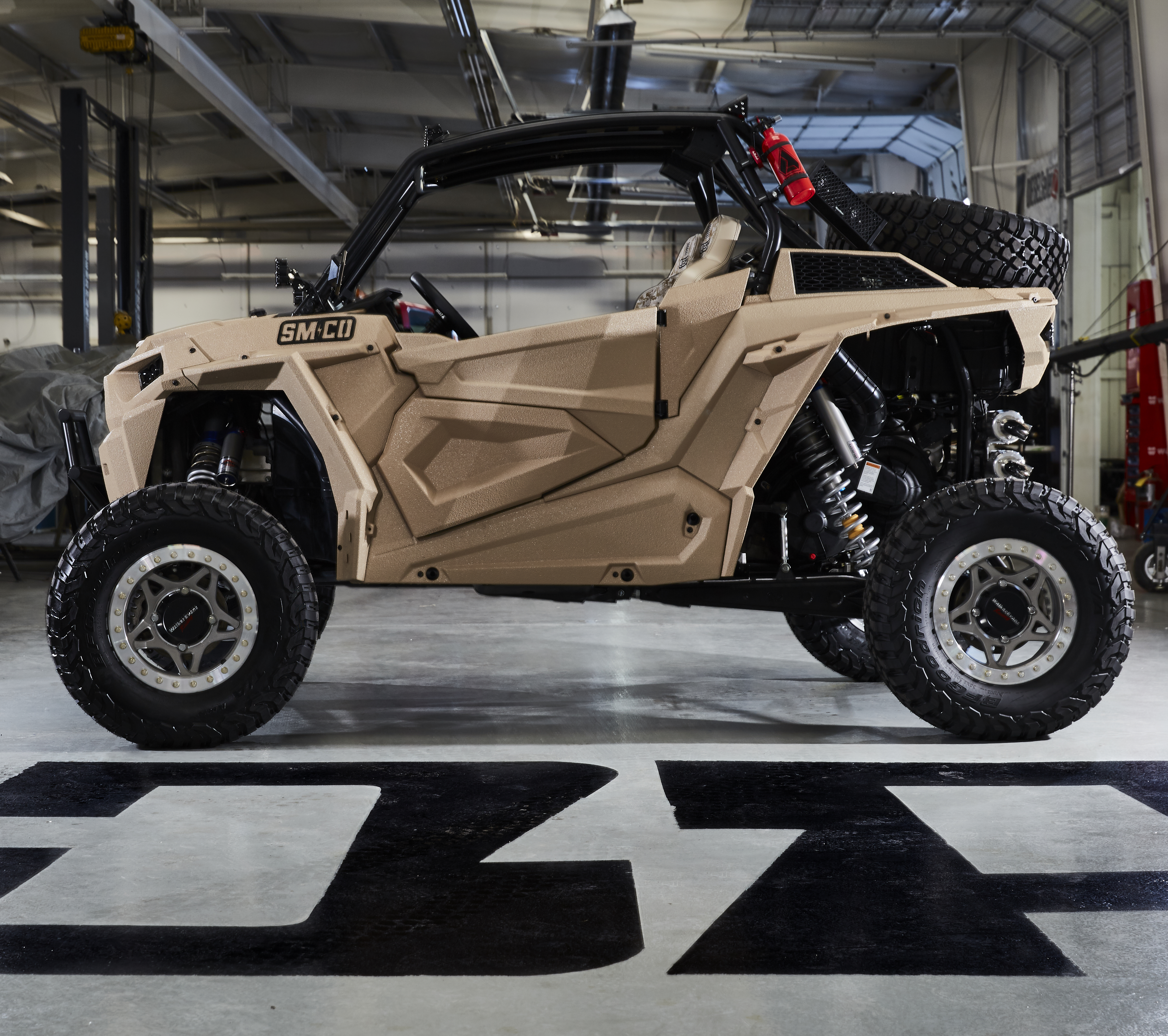 Military themed RZR XP Turbo EPS built by the Diesel Brothers