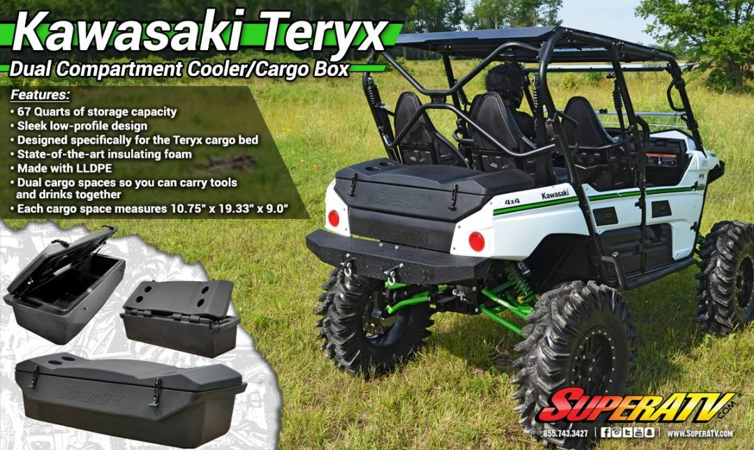 Kawasaki Teryx 4 Dual Compartment Cooler/Cargo Box