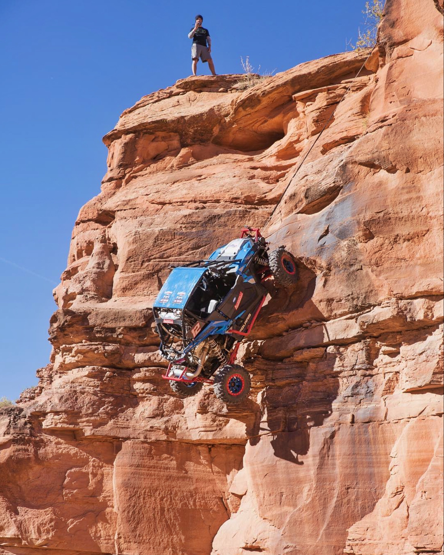 Winch Testing in Moab