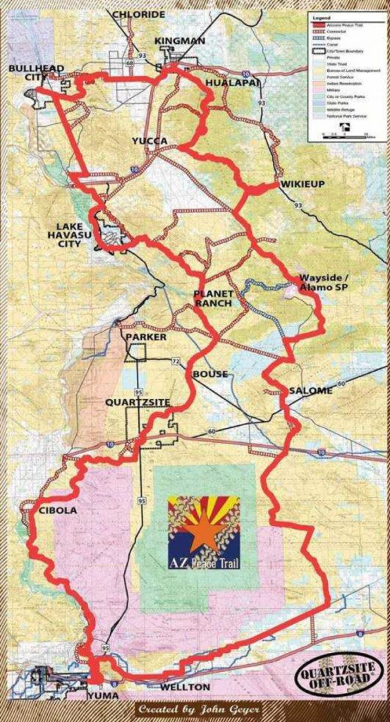 Arizona Peace Trail Map