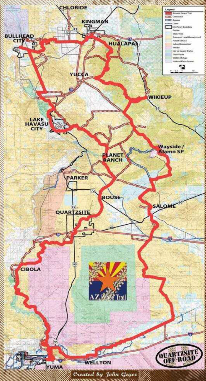Map Of Arizona Bullhead City.Adventure Ride On The Arizona Peace Trail Utv Guide