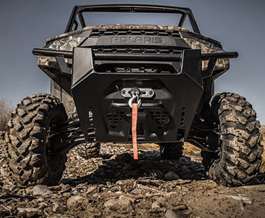 Polaris® Pro 4,500 LB HD winch.