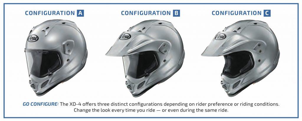 Arai XD4 Helmet Configurations