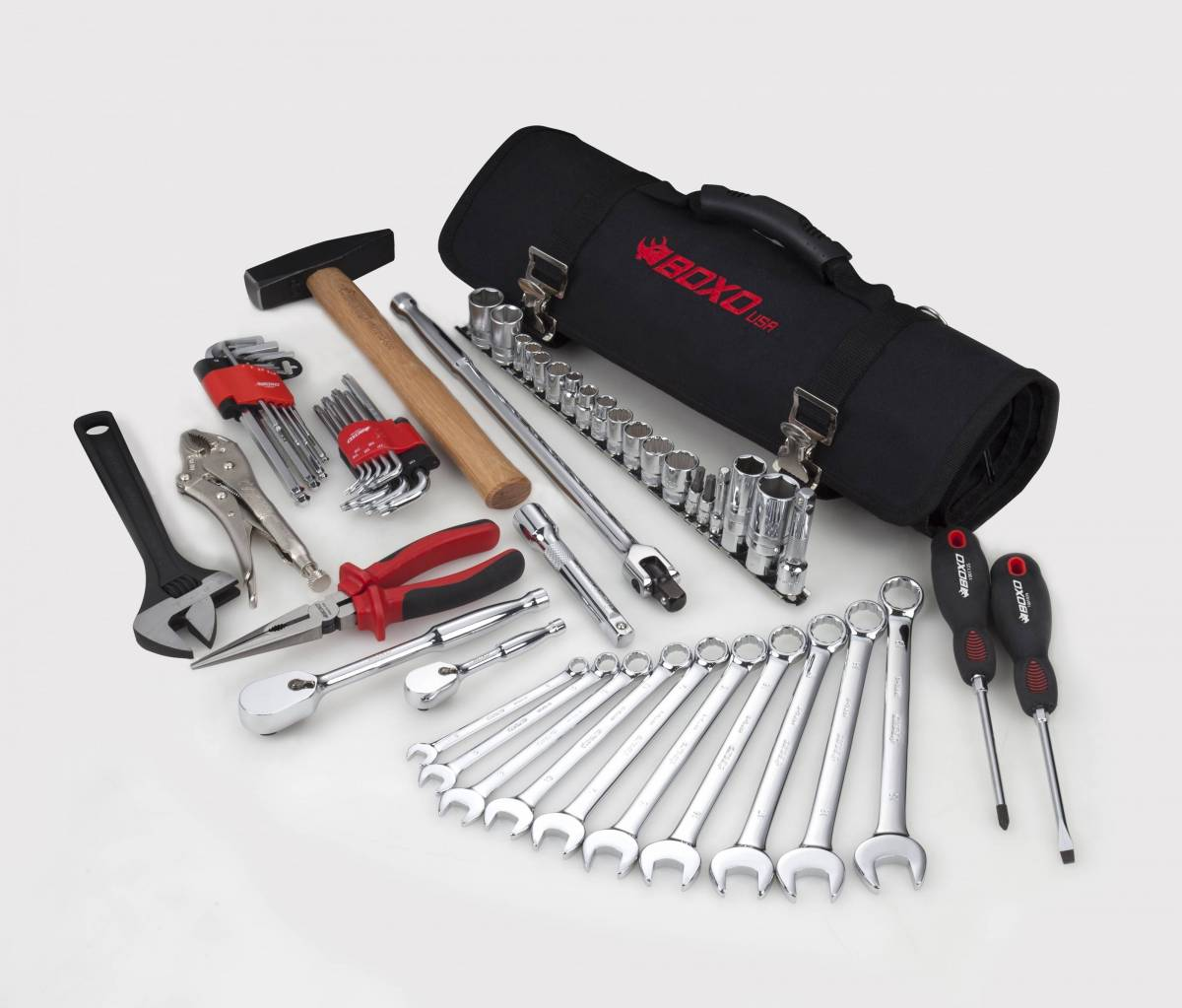 57 Piece Universal Side x Side Vehicle Tool Roll