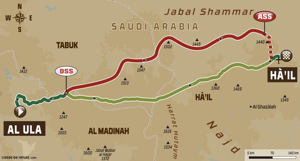 Dakar Rally Stage 5 Map