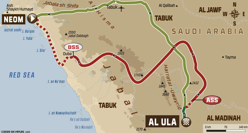 2020 Dakar Rally State 4 Map