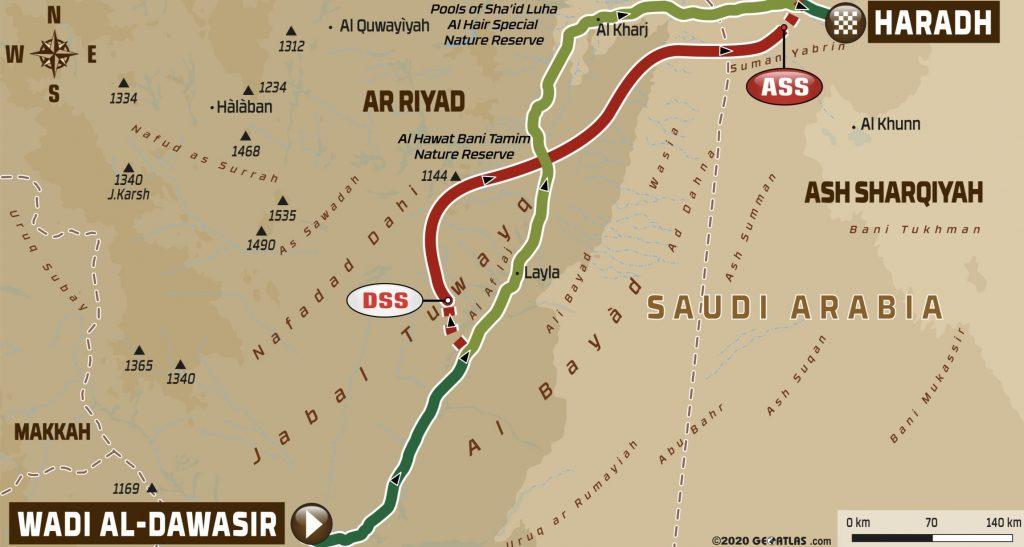 Dakar Rally Stage 9 Map