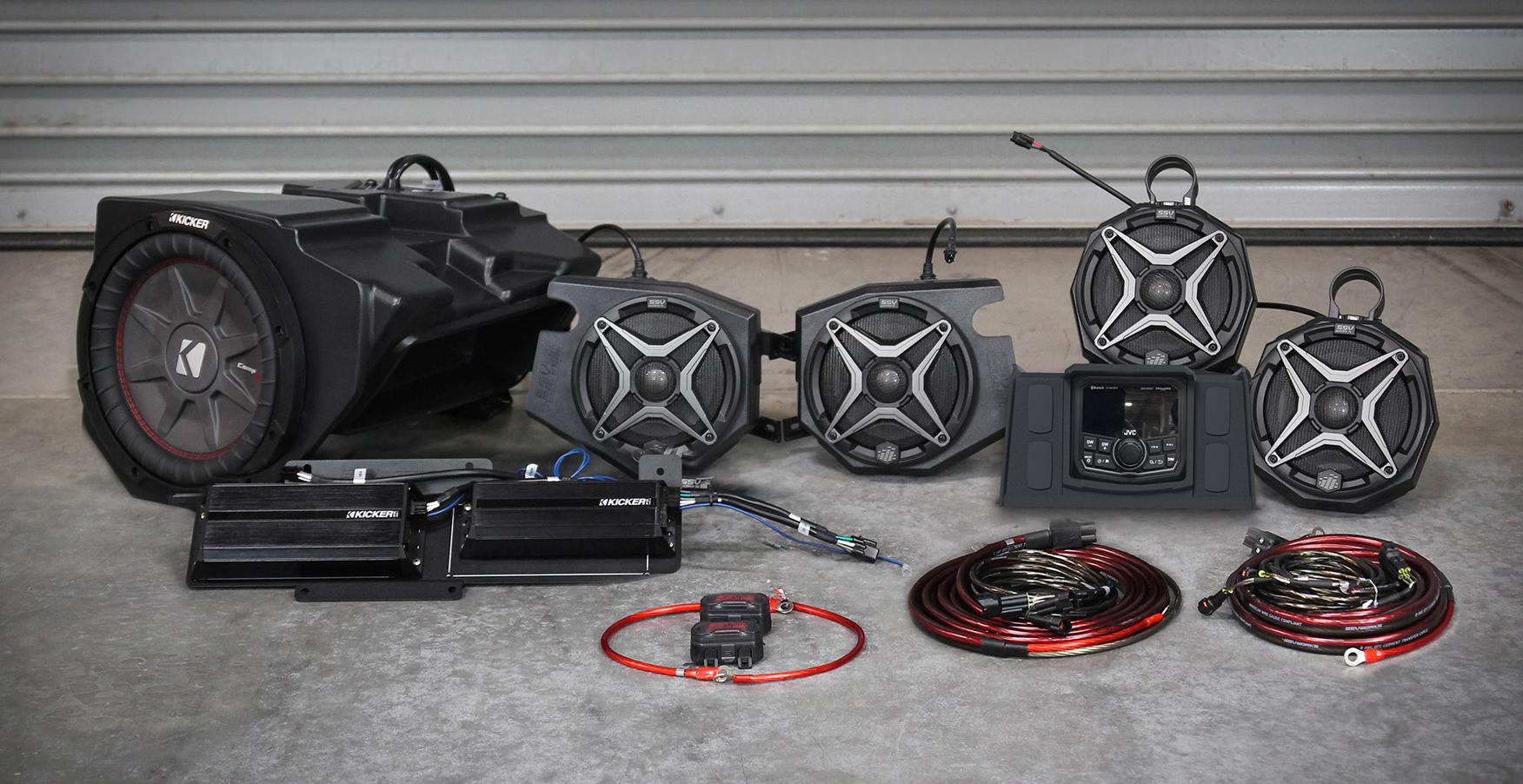 SSV Works 3- and 5-speaker kits with JVC backup-camera-ready radio