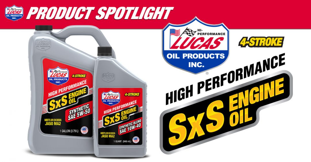 Lucas Oil's Synthetic 4-Stroke SxS Engine Oil